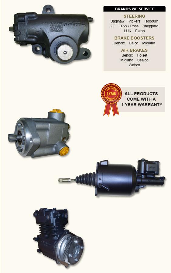 Midland Ross Brake Booster Parts